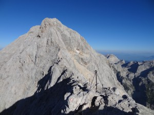 Triglav Summit view from Mali Triglav